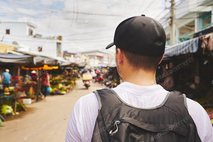 Traveler in Asia