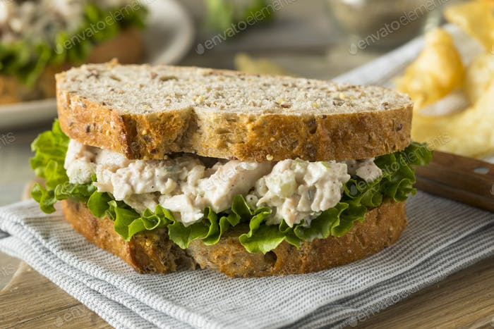 Homemade Healthy Chicken Salad Sandwich
