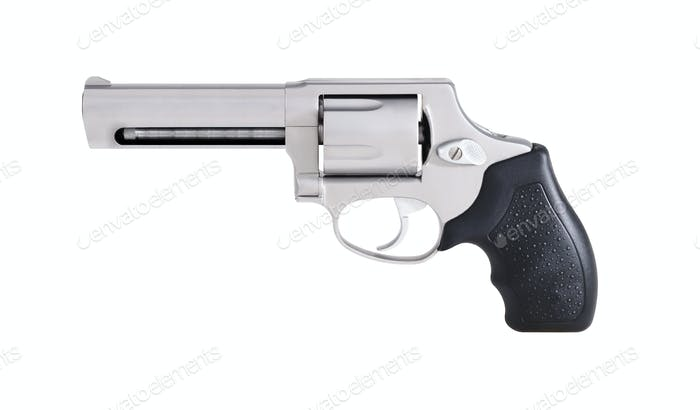 Revolver isoliert auf weiß