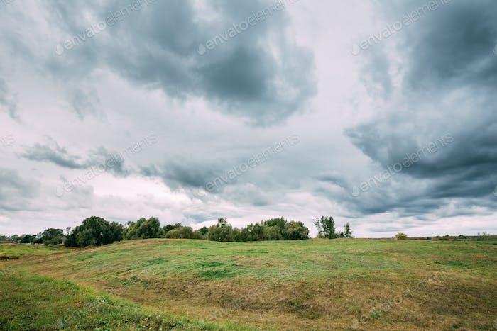 Turov, Belarus. Prehistoric Hillforts In Autumn Day. Turov Settl