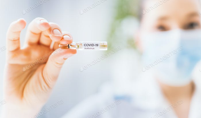 Konzept der Covid-19 Behandlung und Prävention.