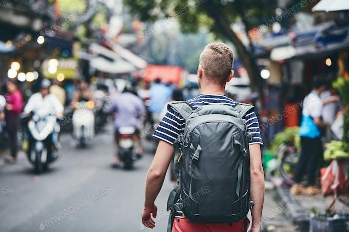 Traveler in Hanoi