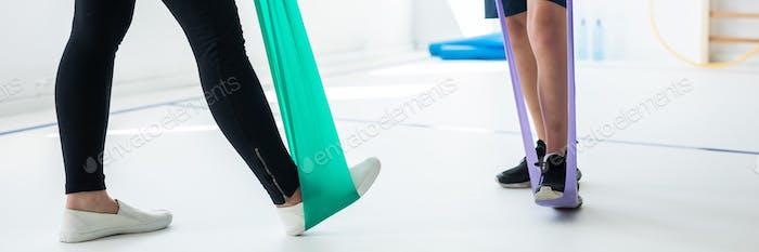 Exercising with gum