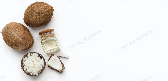 Set of coconut products