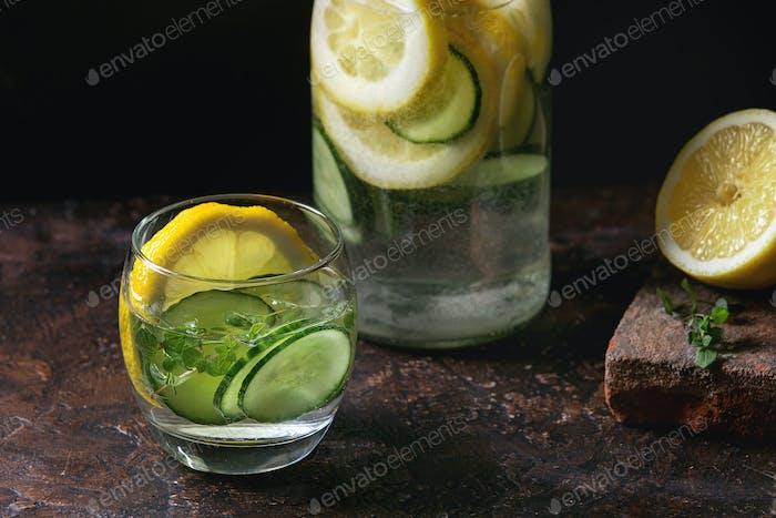Citrus cucumber sassy water