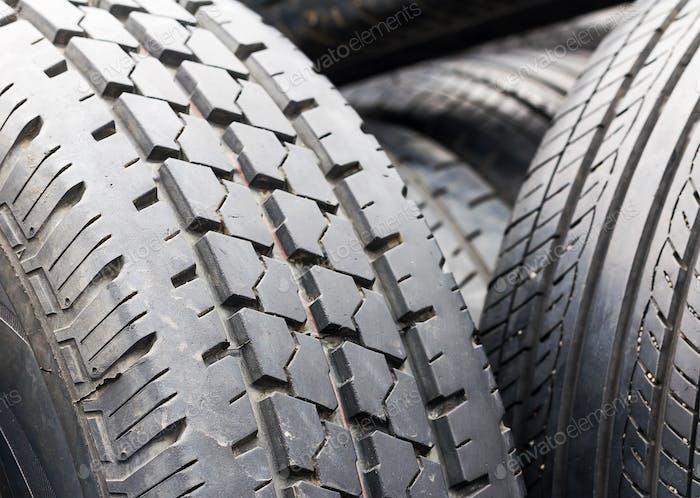 Nahaufnahme alte Reifen