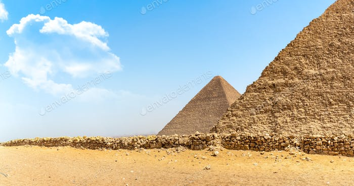 Giza and desert