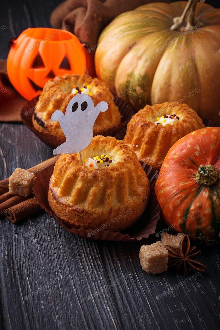 Halloween Kürbis Cupcakes
