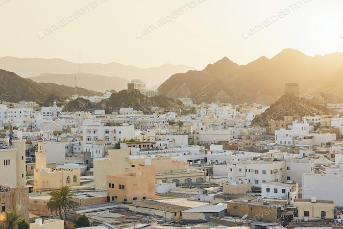 Stadtbild von Muscat