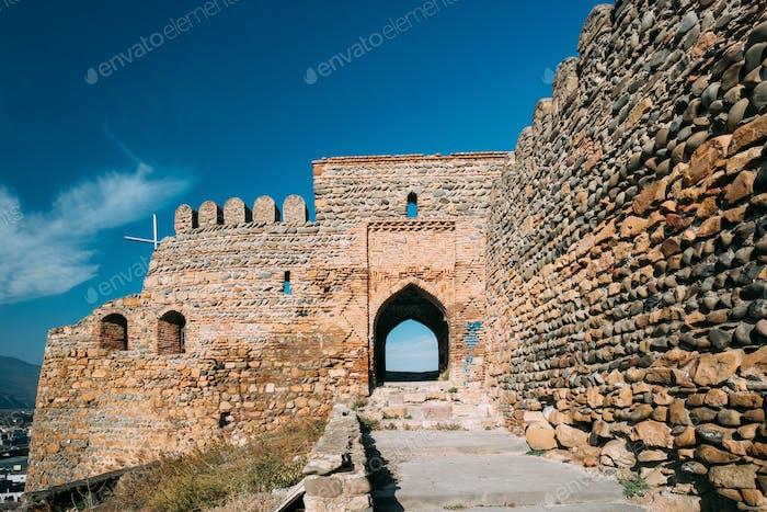Gori, Shida Kartli Region, Georgia. Gates And Walls Of Gori Fort