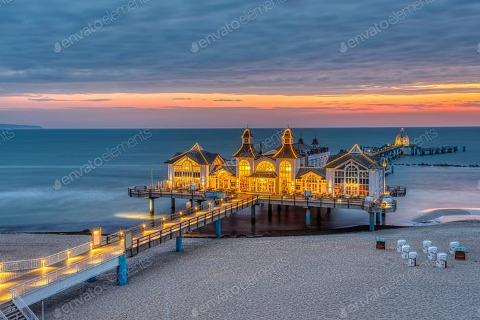 The beautiful sea pier of Sellin