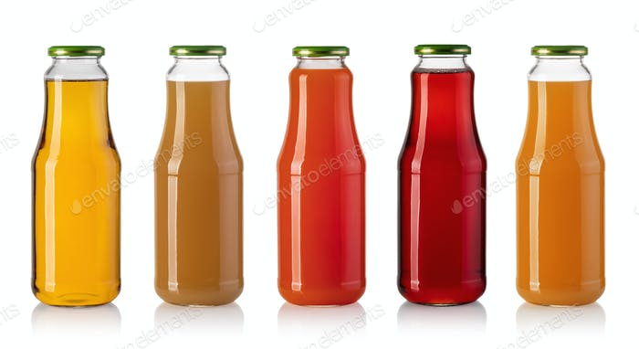 set of Juice bottle