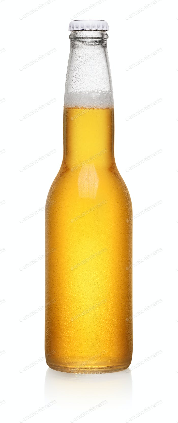 Yellow bottle of beer