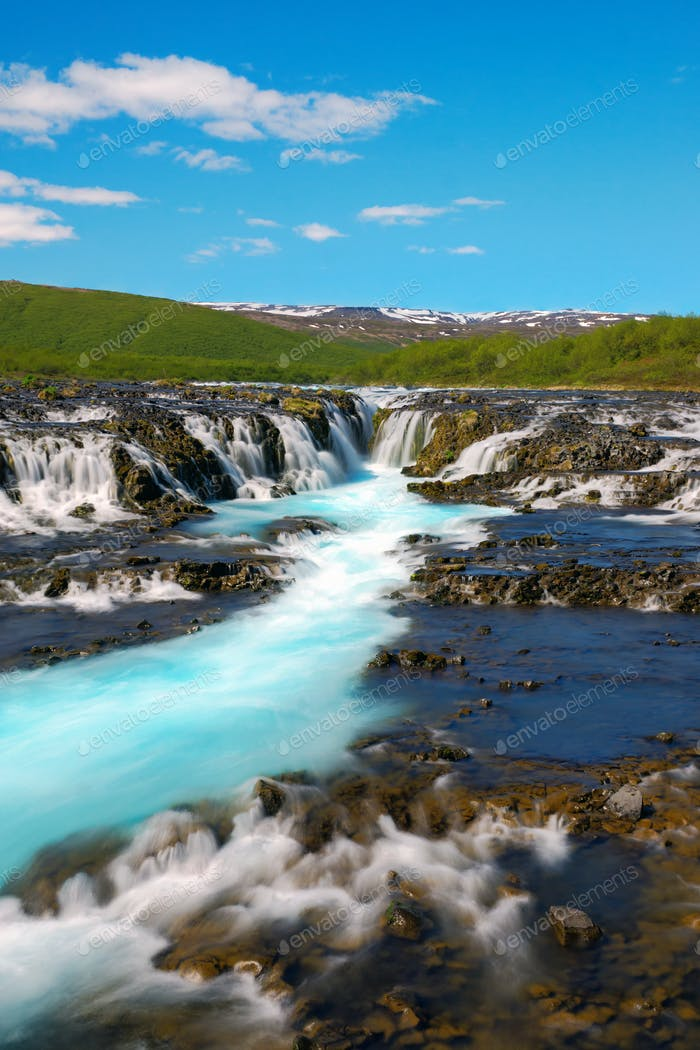 The nice Bruarfoss in Iceland
