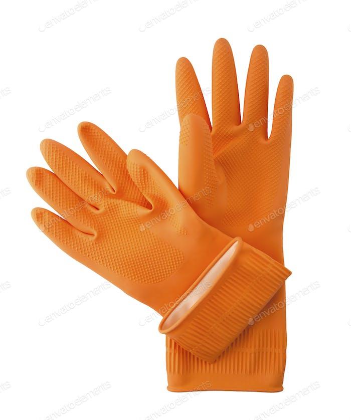 Household gloves.