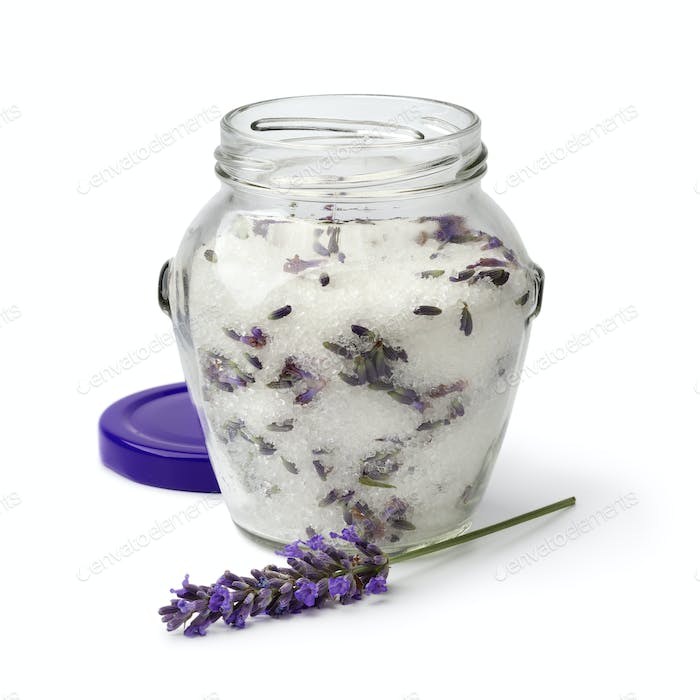 Jar with lavender sugar