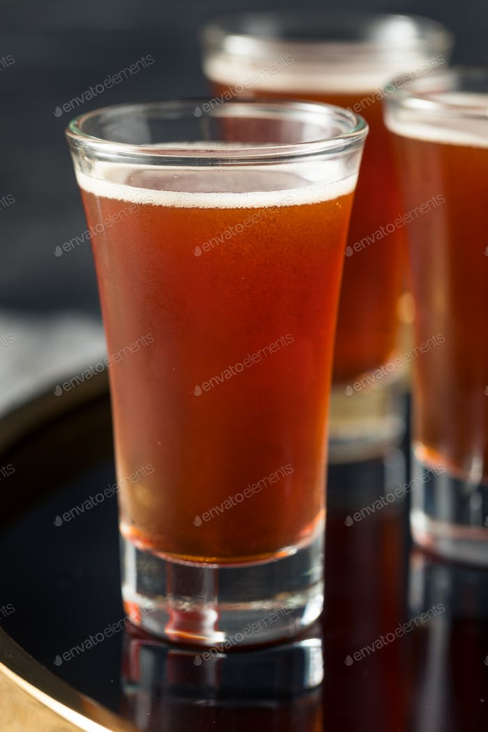 Boozy Refreshing Red Headed Shots
