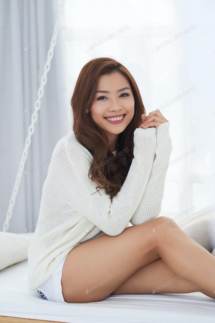 Cheerful pretty woman