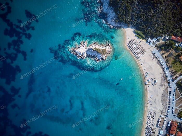 Schöne Beach Top Luftaufnahme Drohne Aufnahme
