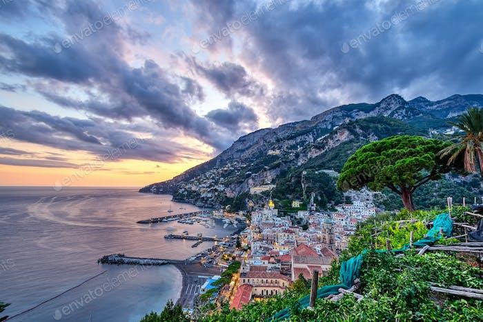 The beautiful coastal village of Amalfi