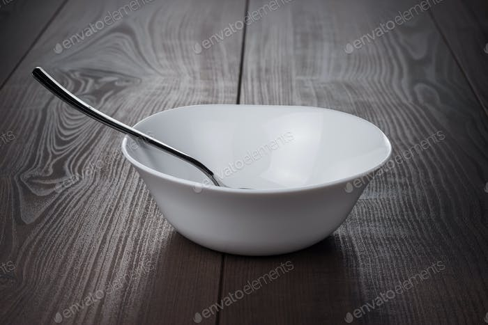Empty Bowl With Spoon