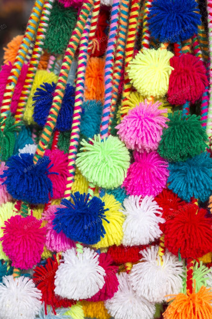 Group of colored Peruvian 