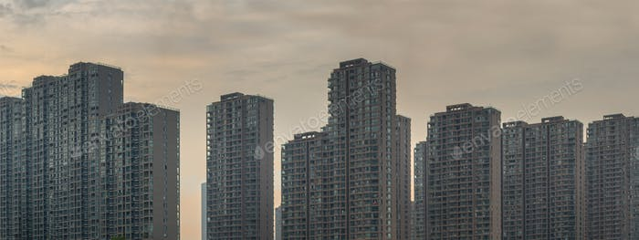 Residential buildings in Hangzhou