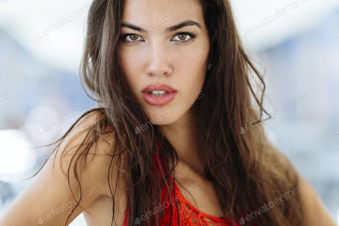 Stunning woman posing outdoor