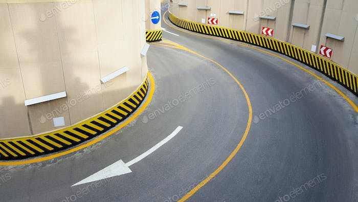 Entrance to underground parking , there are pictures of this series