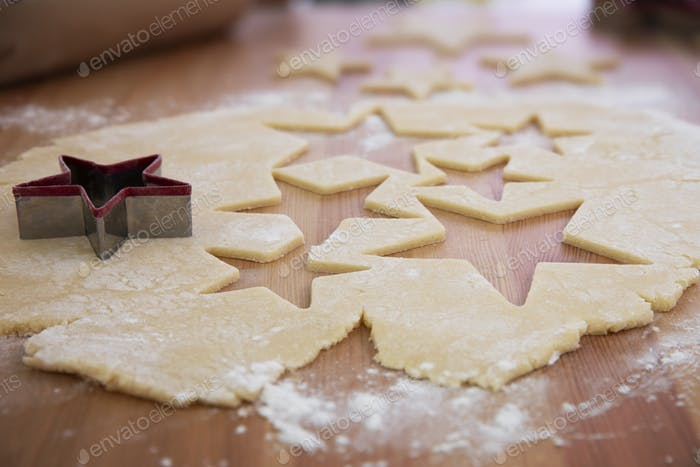 Star Shaped Christmas Cookies