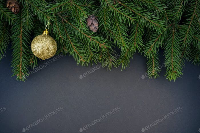 Christmas and New Year dark background