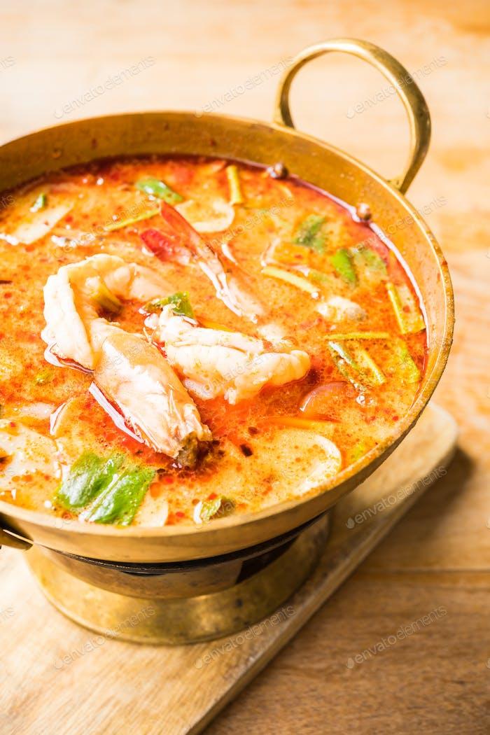Spicy prawn soup
