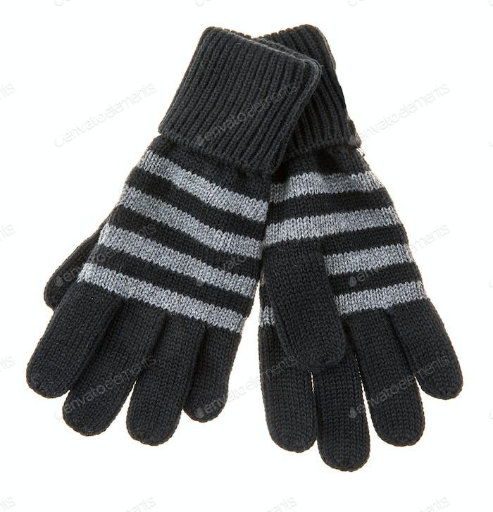 knitted woolen baby gloves