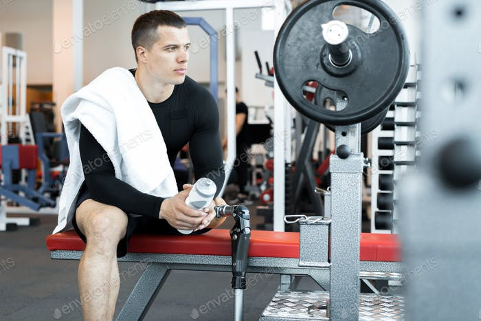 Adaptive Athlete Lifting Barbell