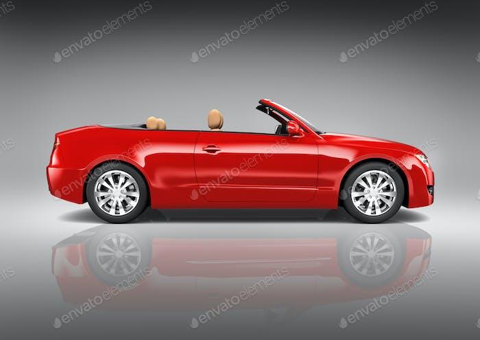 Red Sedan Convertible