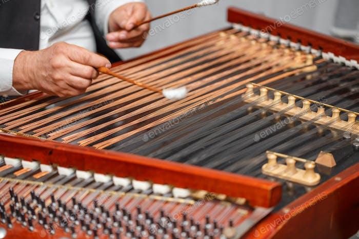 Dulcimer folk musical instrument