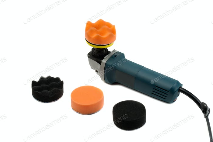 electric grinder set of sponges for polishing the car