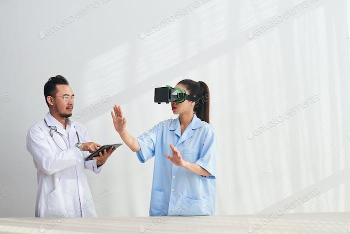 Prueba de la realidad virtual