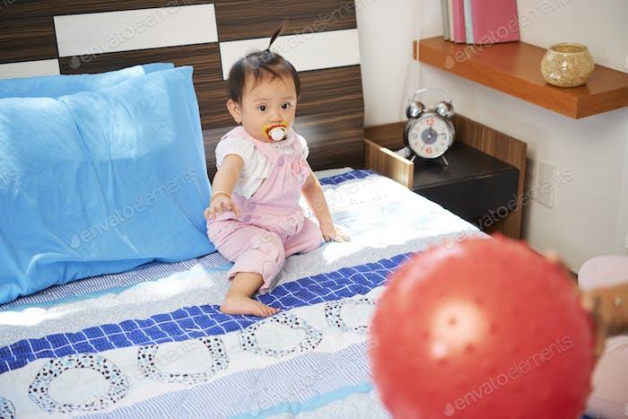 Curious Little Vietnamese Girl