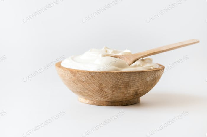 Griechischer Joghurt .Hausgemachtes Fettmilchprodukt, saure Sahne, Mayonnaise.