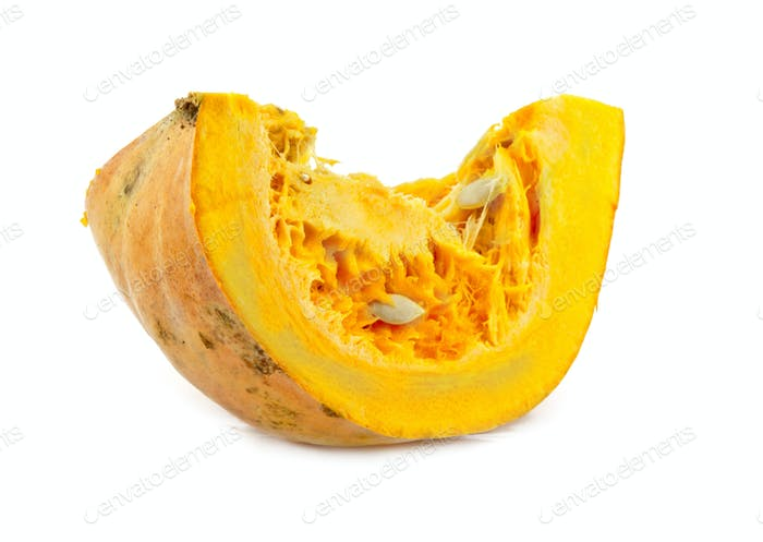 piece of pumpkin isolated