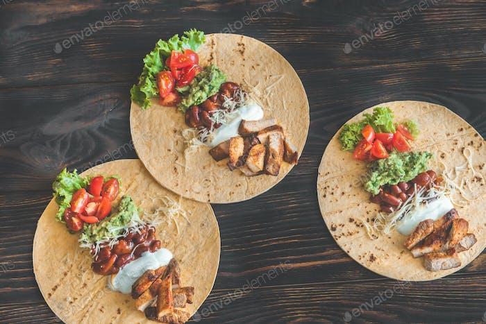 Tacos mit Füllungen