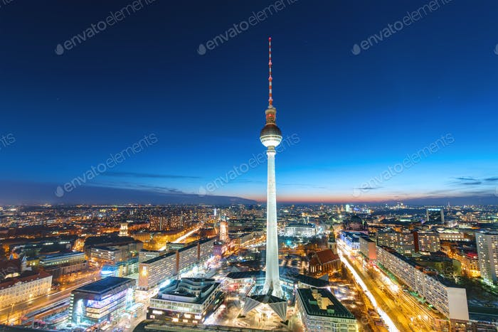The Television Tower at night