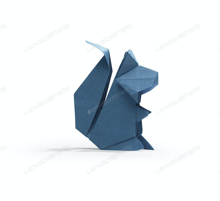 Squirrel in origami