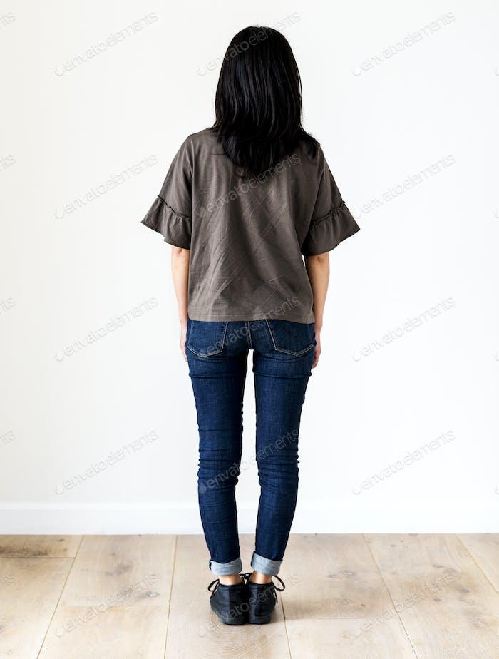 Asian ethnicity woman portrait shoot in a studio