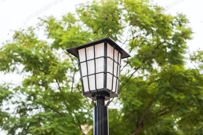 Street lamp outdoor. Old Fashioned Street Light