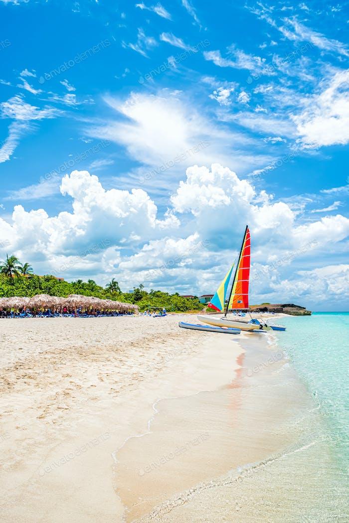 idyllic tropical beach vacation