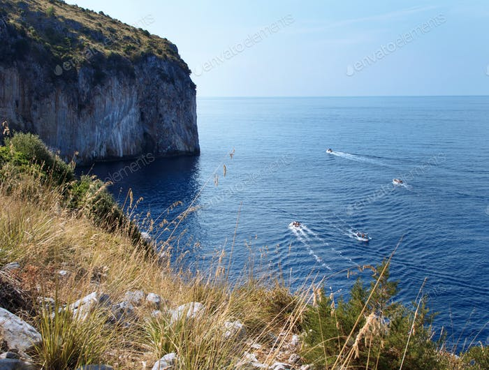 Sea view near Palinuro in Campania, ITaly