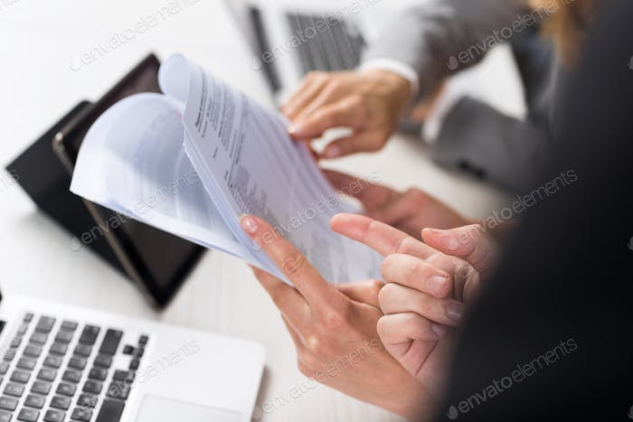 Business Women Work With Documents In Creative Modern Office, Two Businesswoman Teamwork Female