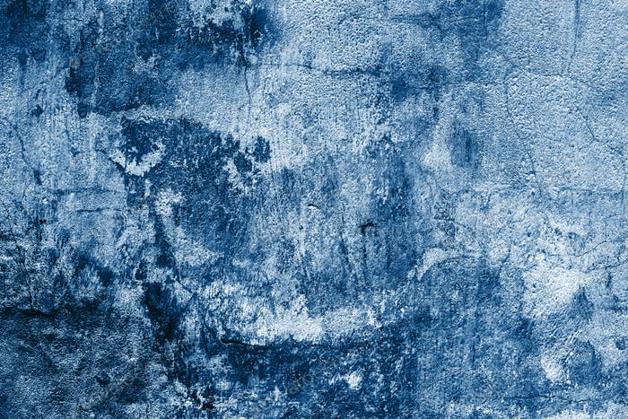Old Blue Textured Shabby Wall.
